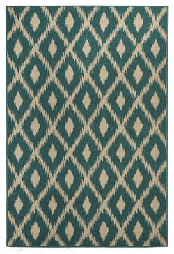 Avoca Trible Turquoise Outdoor Rug
