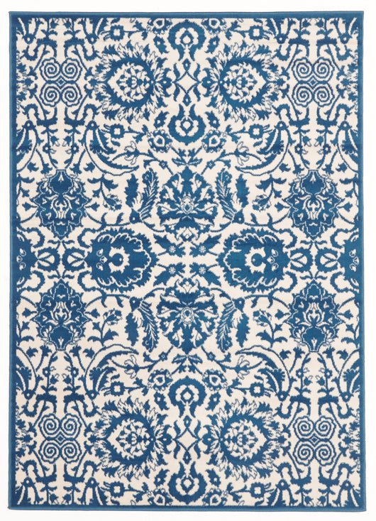 Funky Lace Design Rug Blue