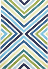 Cross Roads Design Rug Blue Green