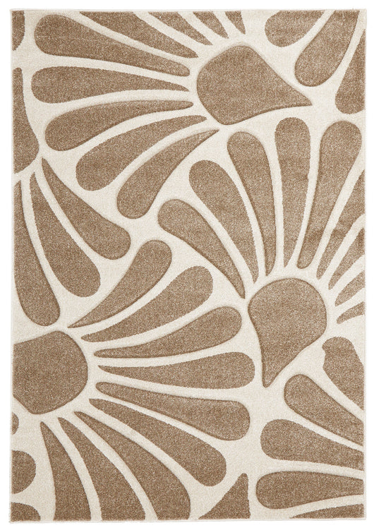 Damask Modern Fern Rug Natural