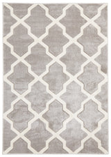 Cross Hatch Modern Rug Silver