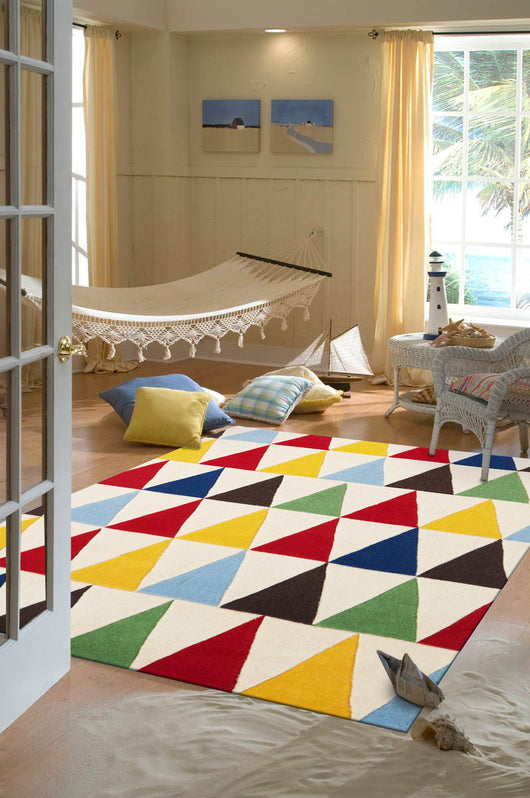 Bunting Multi Coloured Rug