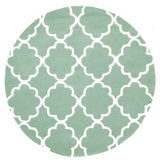 Kids Trellis Design Rug Sea Foam Green