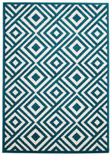Indoor Outdoor Matrix Rug Peacock Blue