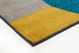 Indoor Outdoor Bedrock Rug Blue Citrus Grey