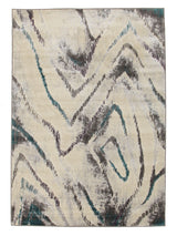 Dillon Geo Modern Blue Grey Rug