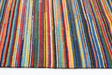 Flat Weave Striped Design Rug Multi