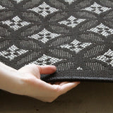 Indoor Outdoor Stunning Modern Rug Black