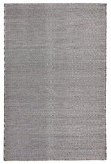 Herring Bone Chevron Rug Black