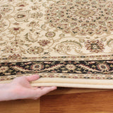 Medallion Rug Ivory with Black Border