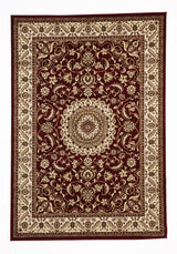 Medallion Rug Red with Ivory Border