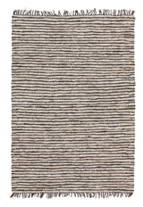 Bondi Leather and Jute Rug Nude Pink White