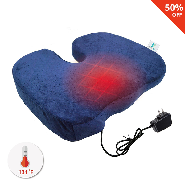 Heat Therapy Coccyx Cushion w/ Wall Charger