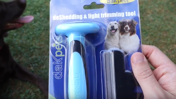 DakPets Deshedding and Light Trimming Tool for Dogs and Cats