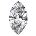 0.33 Carat Marquise Diamond I Color VS2 Clarity GIA Certificate