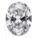 0.35 Carat Oval Diamond D Color SI2 Clarity GIA Certificate