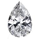 0.31 Carat Pear Diamond F Color VS2 Clarity GIA Certificate