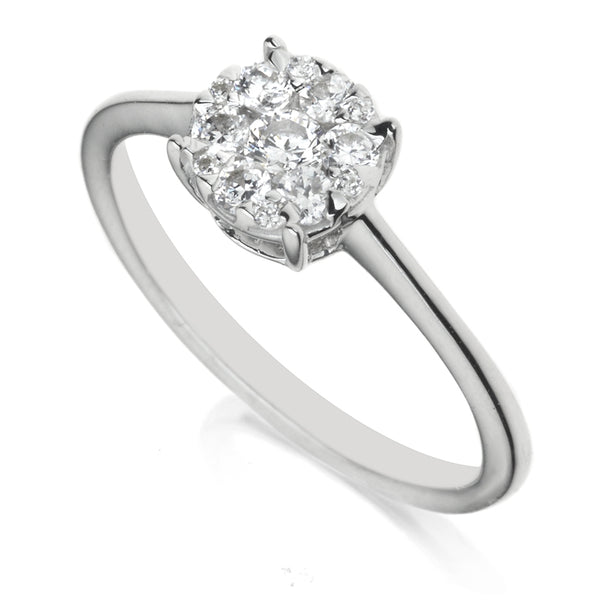 Diamond Solitaire/Cluster Ring