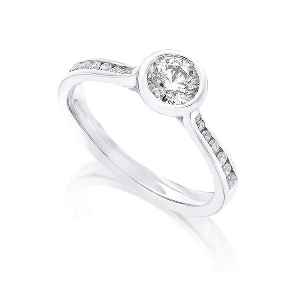 Diamond Ring Semi Mount 0.33 Carat Round Diamond H Color SI1 Clarity GIA Certificate