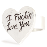 SHOP BKS RINGS | Covet Your Freedom Rock and Roll Jewelry Valentines Be Mine Signet Ring | Love Heart Ring | Emoji Heart Ring | Cat Bird Love Heart Ring | Promise Ring | Minimal Heart Ring | Brooklyn Smithy Rings | Heirloom Jewelry | I love you Alternative engagement ring | Made in USA Jewelry