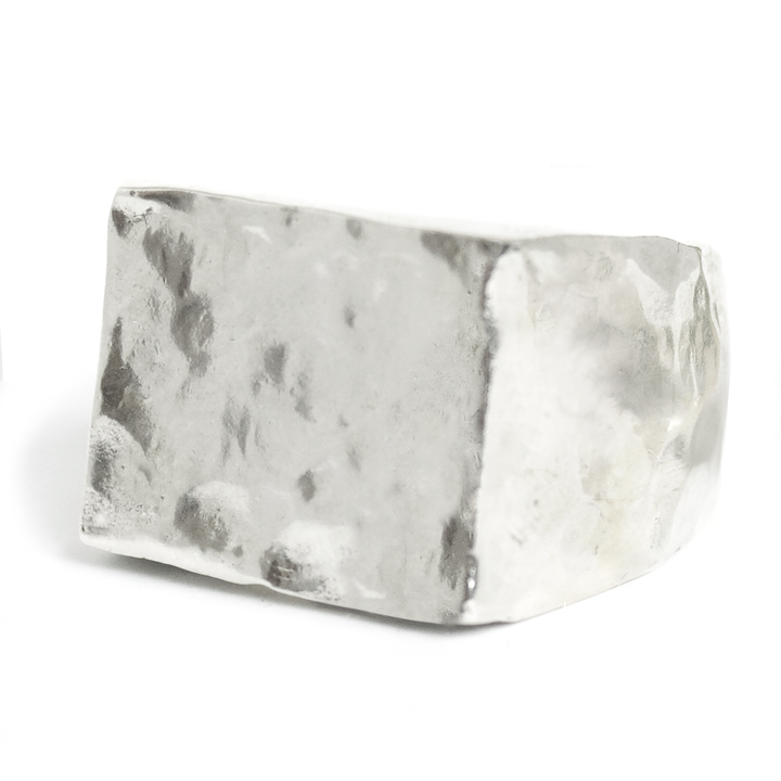 SHOP BKS-RINGS | Brooklyn-Smithy | Meteorite-Rectangle-Signet-Ring | Meteorite-Circle-Signet-Ring | Handcrafted-in-the-usa-by-designers-JC-Ortiz-and-Natasha-Pia-Podgoretsky