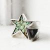 BKS-RIngs | Made-In-usa, Bespoke-custom-rings, Rough-luxe-mens-jewelry, Star-signet-ring, Mens-turquoise-star-signet-ring, turquoise-star, Brooklyn-Smithy-Rings, Covet-your-freedom-jewelry