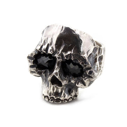 Black Eyed Belle Classic Skull Ring | Supernatural Black Onyx Minimalist Skull Ring | Southwestern Skull Ring | Rock and Roll Skull Ring | Handcrafted in the USA | Made in the USA by Brooklyn Smithy | BKS Rings | @BrooklynSmithy | Skull Ring Biker Ring | #Ringtrue