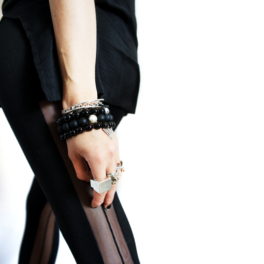 BKS-Glisten-Black-Onyx-Crystal-Charm-Bracelet | Brooklyn-Smithy | Modern Mysticism | Day Ray Gemstones | Rock and Roll Couture | Covet your freedom @Brooklynsmithy #ringtrue