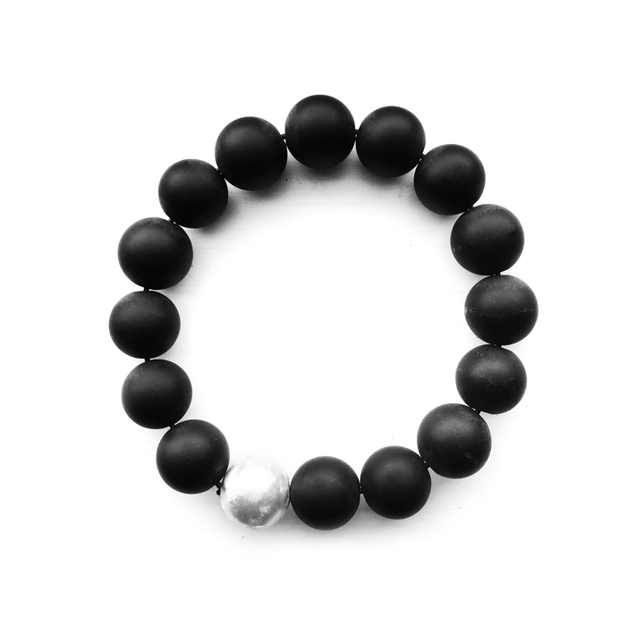 BKS-Matte-Black-Onyx-Crystal-Charm-Bracelet | Brooklyn-Smithy | Modern Mysticism | Day Ray Gemstones | Rock and Roll Couture | Covet your freedom @Brooklynsmithy #ringtrue