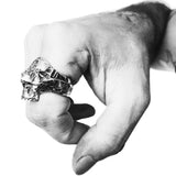 Blindfolded Classic Skull Ring | Southwestern Skull Ring | Rock and Roll Skull Ring | Handcrafted in the USA | Made in the USA by Brooklyn Smithy | BKS Rings | @BrooklynSmithy | Skull Ring Biker Ring | #Ringtrue