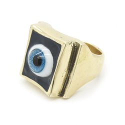 SHOP BKS RINGS | Blue Eye Ring | Blue Glass Eye Ring | All Seeing Eye Ring | Blue Eyed All Seeing Eye Ring | Handcrafted in the USA | Handcrafted in New Mexico | Southwest Jewelry | Biker Ring | Brooklyn Smithy | Brooklyn Smithy Rings | BKS Rings | #Ringtrue | @Brooklynsmithy