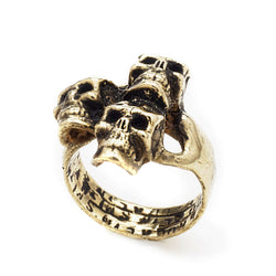 SHOP BKS RINGS | Rock and Roll Jewelry | Handcrafted in the USA Bespoke Rings and Custom Made Jewelry | Catacomb Skulls Ring | Classic Skull Ring | Perfect Skull Ring for Small Hands | Skull Pinky Finger Ring