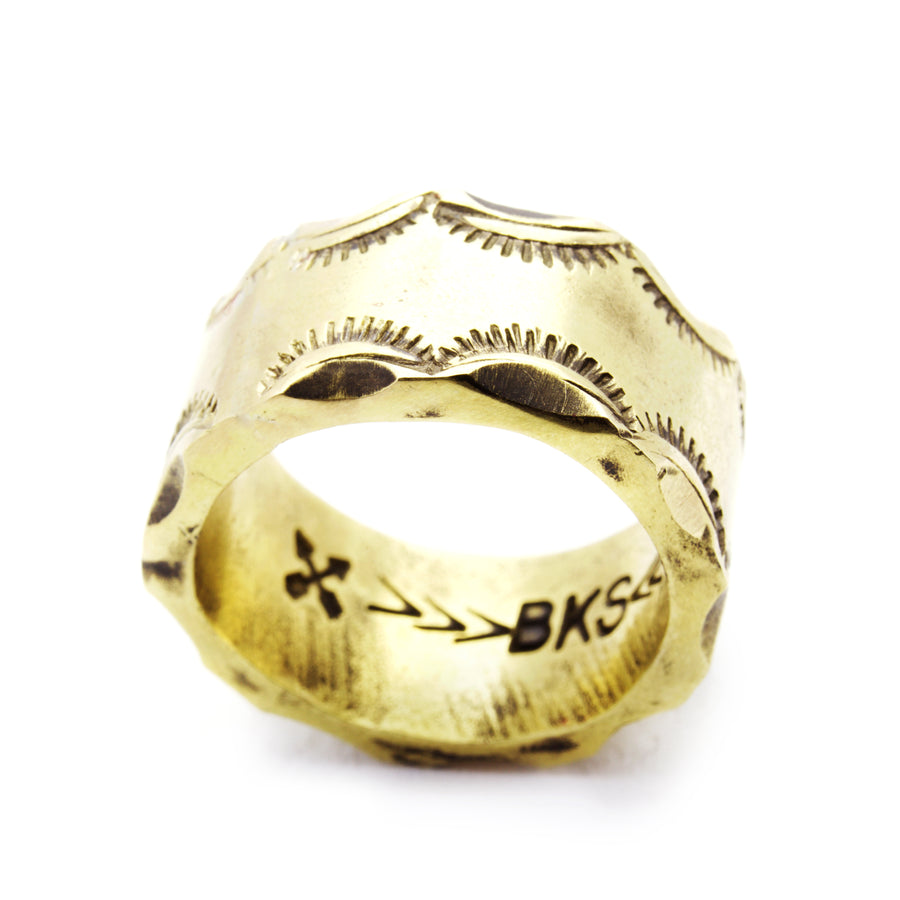 SHOP BKS RINGS | Semi-Circle Chunky Band King Ring | Handcrafted Rock and Roll jewelry. Built to last, handcrafted in the USA |  @Brooklynsmithy | BKSRings | #ringtrue | opening ceremony jewelry
