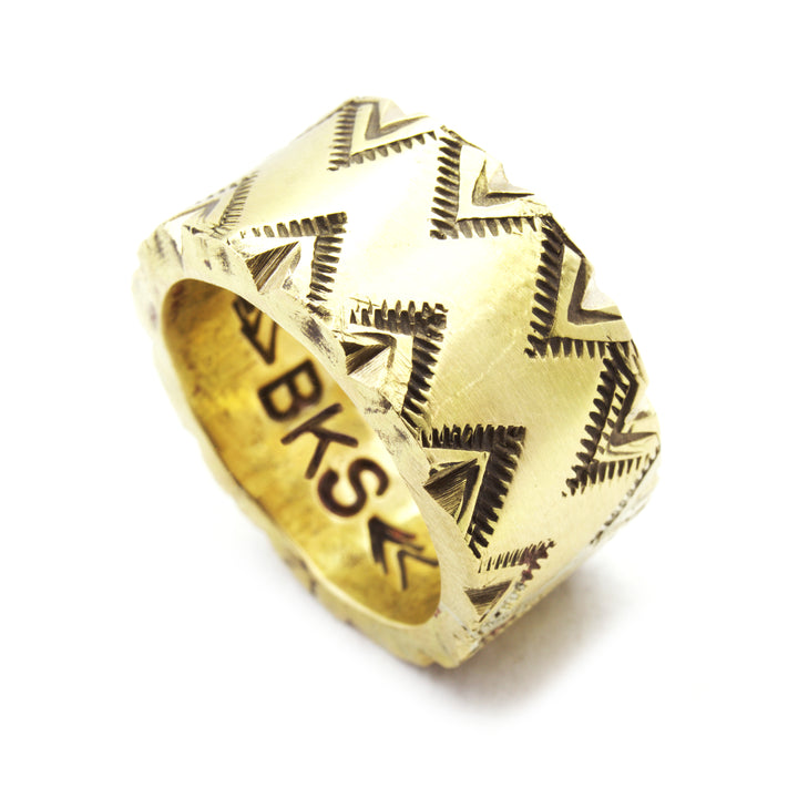 SHOP BKS RINGS | Triangle Zigzag Chunky Band King Ring | Handcrafted Rock and Roll jewelry. Built to last, handcrafted in the USA |  @Brooklynsmithy | BKSRings | #ringtrue | opening ceremony jewelry