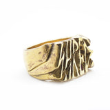 SHRED graffiti nameplate signet ring by Brooklyn Smithy Rings | @BrooklynSmithy | BKS Rings | Made in USA Jewelry