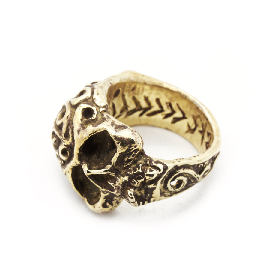 Versailles Filigree Sideways Skull Ring by Brooklyn Smithy | BKS Bold Rings | Baroque minimalist Southwestern Heirloom Made in USA rings and Jewelry