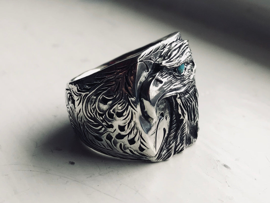 Sleeping Beauty Eye Eagle Ring