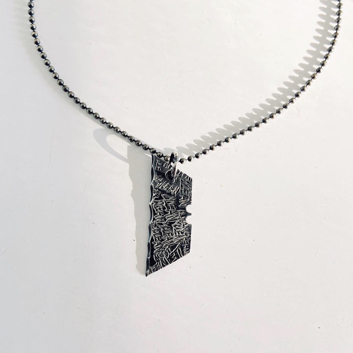 Razor blade necklace | BKS Jewelry | Mens Streetstyle | Streetstyle | Graffiti Jewelry Collection | Rock and Roll Jewelry | Brooklyn Smithy Jewelry | MMXIXClub | #ringtrue | Addiction Awareness | Covet Your Freedom