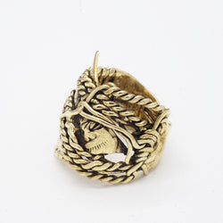 BKS Rope Ring, BROOKLYNSMITHY.COM, Twisted Rope Ring, Men's Gold Rings, Alternative Engagement Rings, USA Brand Jewelry, Low Profile Biker Ring