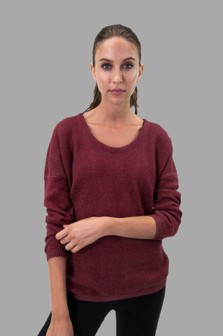 Tia Sweater in Burgundy