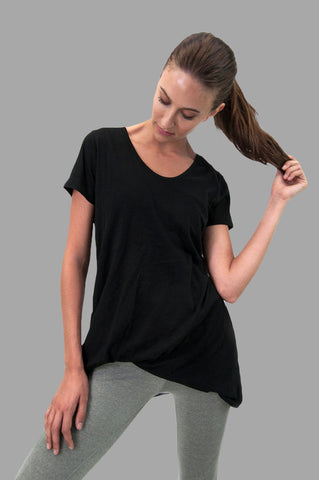 Whisper Tee in Black