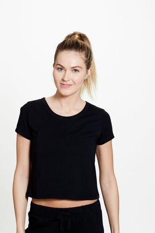 Anna Crop in Black