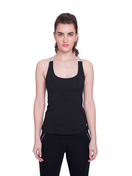 Ahimsa Fitted Cami Black
