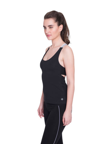 Ahimsa Fitted Cami in Black