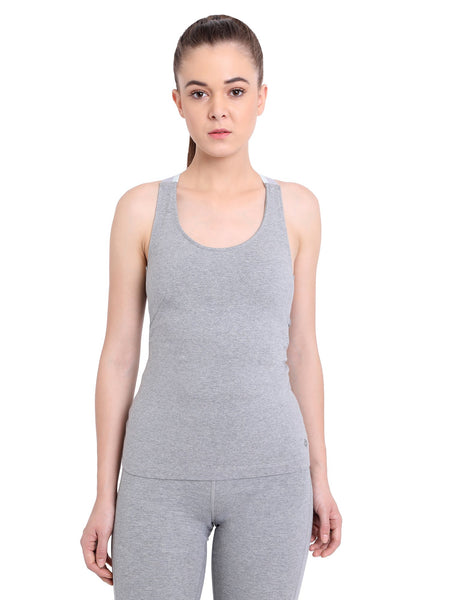 Ahimsa Fitted Cami Heather Grey