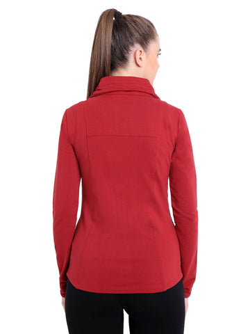 SATVA Athleisure Fashion - Aaliyah Jacket In Burgundy