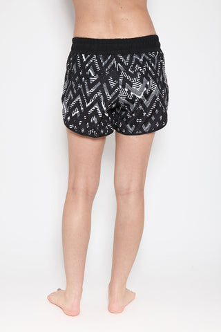 Chaq Shorts in Black Print