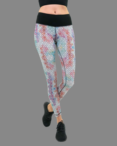 Chaq Legging in Holi Print