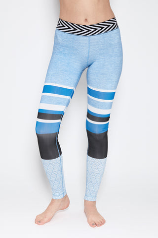 Dana Leggings in Light Blue Print