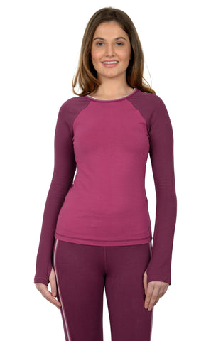 Kaya LS T Shirt in Plum